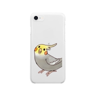 オカメとアソボ!シナモンカラー Clear smartphone cases