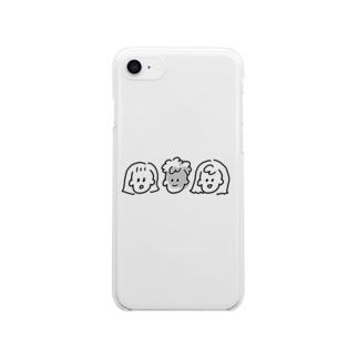 【e】仲良しこよしファミリー Clear smartphone cases