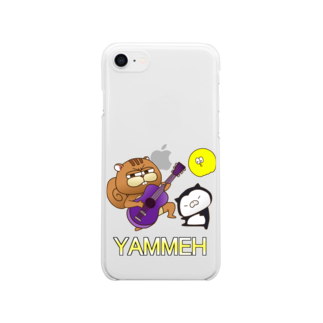 SUZURI×ヤマーフのYAMMEロック Clear smartphone cases