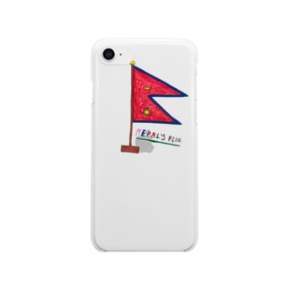 NEPAL FLAG Clear smartphone cases