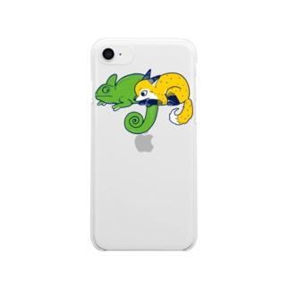 エボシカメレオンっぽい Clear smartphone cases