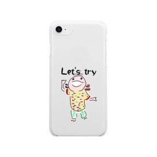 うーぱーぼうや Let's try Clear smartphone cases
