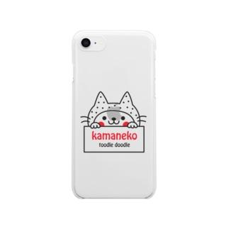かまねこ Clear smartphone cases