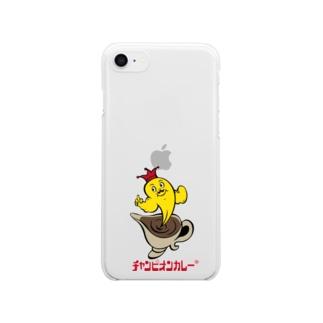 キャラクターロゴ(R) Clear smartphone cases