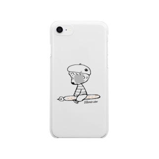 (わーくわくシリーズ)illustratorさん Clear smartphone cases
