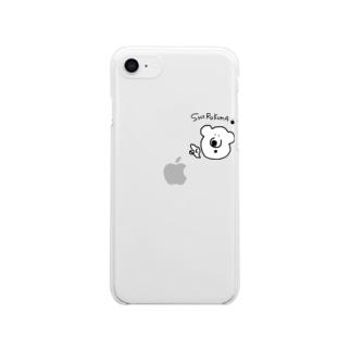 白熊shirokumaしろくま Clear smartphone cases
