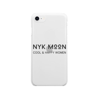 NYK MOON logo Clear smartphone cases