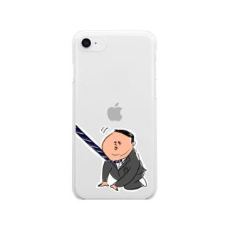 出勤イヤイヤおじさん Clear smartphone cases