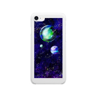 Blue Space Clear smartphone cases
