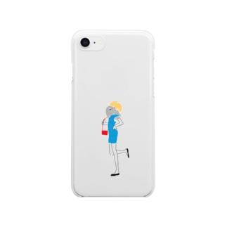 サマーガール Clear smartphone cases