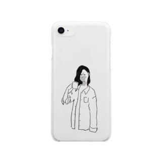 モーニングガール Clear smartphone cases