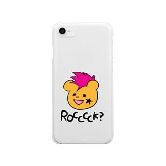 パンクロッくま Clear smartphone cases