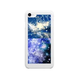 星の無限 Clear smartphone cases