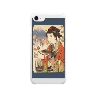 Yamakawa Rakuyou Ukiyo-e GANTAN Clear smartphone cases
