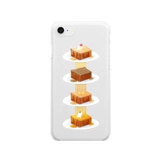 本日のハニートースト Clear smartphone cases