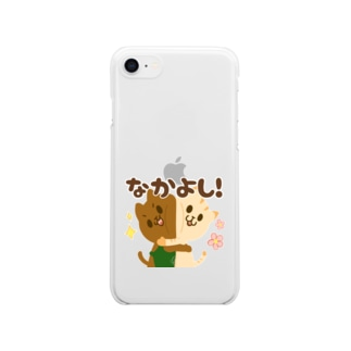 POGE's COFFEE SHOP Lineスタンプグッズ(なかよし!) Clear smartphone cases