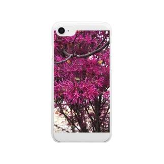 ピンク Clear smartphone cases