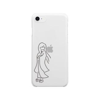 見かえりbijinさん Clear smartphone cases
