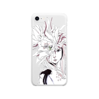 月下美人 Clear smartphone cases