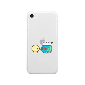 きんぎょばち Clear smartphone cases