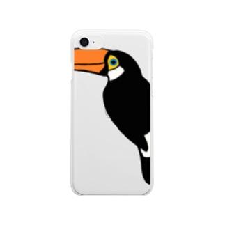 オニオオハシ サコッシュ Clear smartphone cases