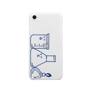 スマホケース用主要3キャラ(青)  クリアスマートフォンケース
