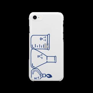 うえたに夫婦のスマホケース用主要3キャラ(青)  Clear smartphone cases
