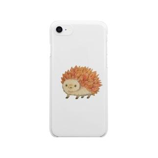 輝石ハリネズミ1 Clear smartphone cases