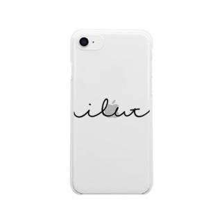 """""""筆記体のようで適当な曲線""""シリーズ Clear smartphone cases"""