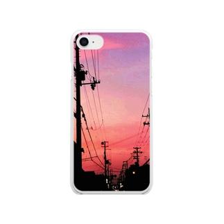 朱色の街 Clear smartphone cases