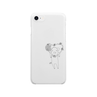 Love pig mono  Clear smartphone cases