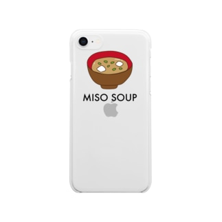miso soup Clear smartphone cases