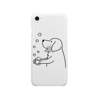 wash hands Clear smartphone cases