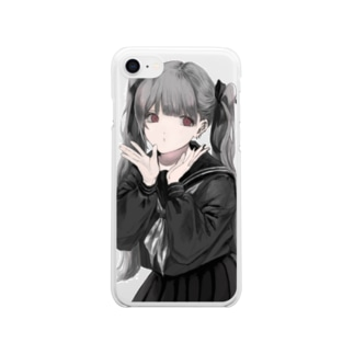 お葬式の帰り(文字ナシクリア) Clear smartphone cases
