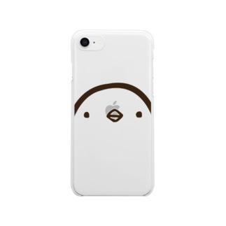 ひよこさん(顔・クリア・iphone8/7用)  Clear smartphone cases