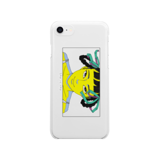 nancawaのShe is the クリアケース Clear smartphone cases
