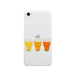 あわのでるのみもの Clear smartphone cases
