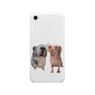 モルモット オハナ&ラウ  Clear smartphone cases
