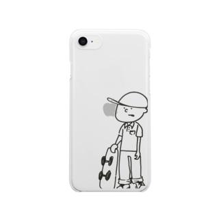 すけ太 Clear smartphone cases