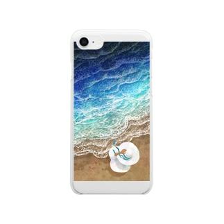 海と少女 Clear smartphone cases