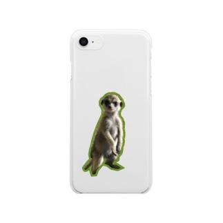 ミーアキャットのピノちゃん Clear smartphone cases