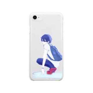 コンクリートヒートチェッカー Clear smartphone cases