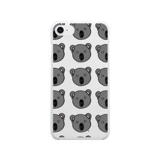 コアラ柄 Clear smartphone cases