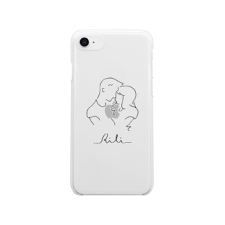 RiLiのtwo of a kind(クロ) Clear smartphone cases