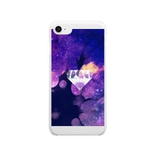 宇宙ダイヤ Clear smartphone cases