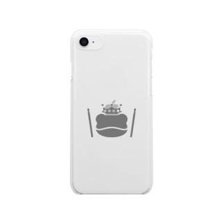 カエルとドラム ロゴ3 Clear smartphone cases