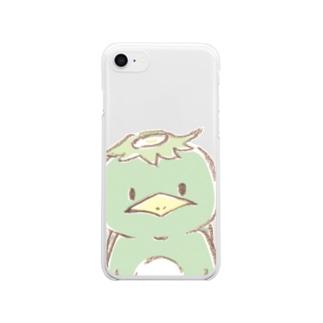 カッパのメドッちゃん ドUP! Clear smartphone cases