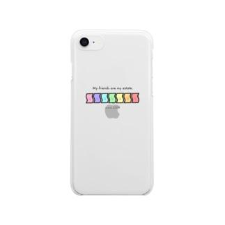 3の3グッズ Clear smartphone cases