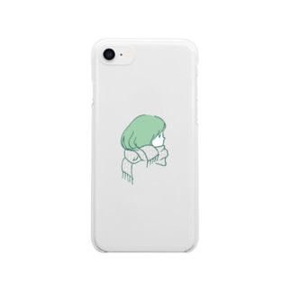 APPLE ON THE HEAD Clear smartphone cases