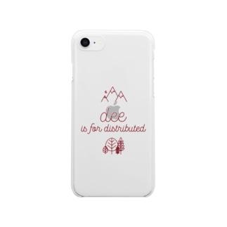 ブは分散のブ Clear smartphone cases